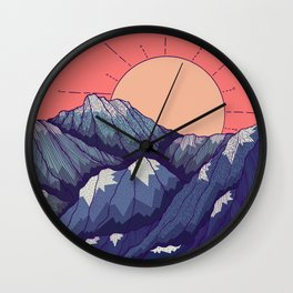 An early morning view Wall Clock