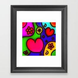 Colorful Modern Love 2 Framed Art Print