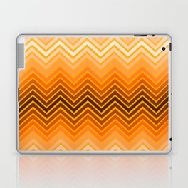 Orange chevron Laptop & iPad Skin