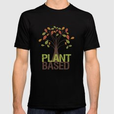 Plant Based Fall Tree Mens Fitted Tee LARGE Black