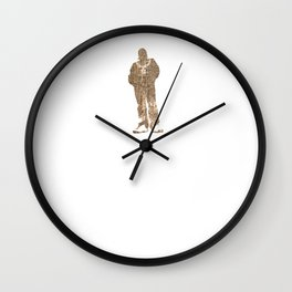 Igh Kihl Media Standing Man Logo Worn Design Wall Clock