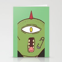 punk Stationery Cards featuring Punk by The Bad Artist