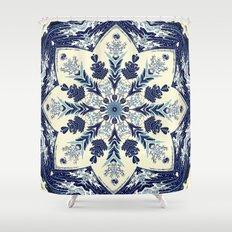 Deconstructed Waves Mandala Shower Curtain
