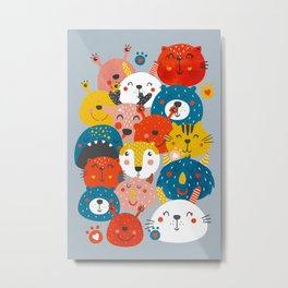 Monsters friends Metal Print
