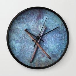 Two Nails Wall Clock