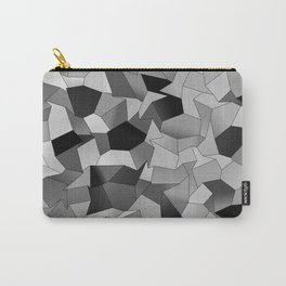 Geometric Shapes Fragments Pattern bw Carry-All Pouch