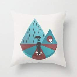 """Ceci n'est pas Magritte."" Throw Pillow"
