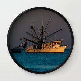 Tucker J fishing boat Wall Clock