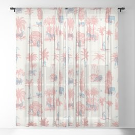 Where they Belong - Pastel Colors Sheer Curtain