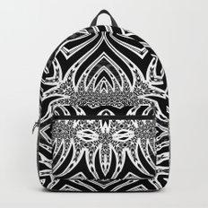 Black & White Tribal Symmetry Backpacks