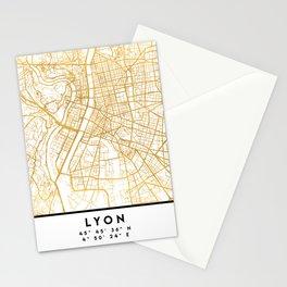 LYON FRANCE CITY STREET MAP ART Stationery Cards