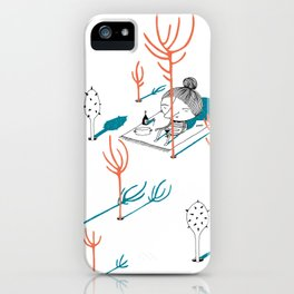 Picnic in the woods iPhone Case