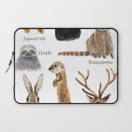 cute animals watercolor collection Laptop Sleeve