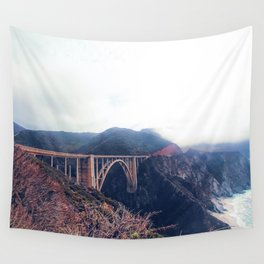 beautiful landscape at Bixby bridge, Big Sur, California, USA Wall Tapestry