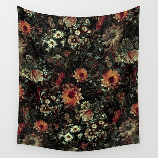 Vintage Garden IV Wall Tapestry By RIZA PEKER