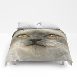 """Cute Kitty (Love cats)"" Comforters"