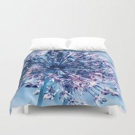 Allium blue macro 027 Duvet Cover
