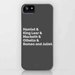 The Shakespeare Plays I iPhone Case