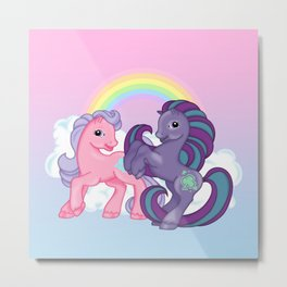 g2 my little pony Clever Clover and Morning Glory Metal Print