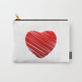 Scribbled heart Carry-All Pouch