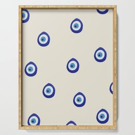 Eye'm Watching You- Blue Evil Eyes Serving Tray