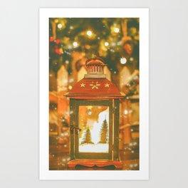 Christmas Lantern. Art Print