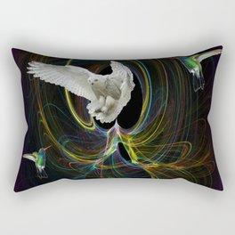 The White Owl Rectangular Pillow