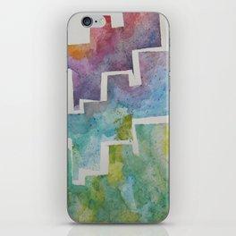 Watercolor Skyline  iPhone Skin
