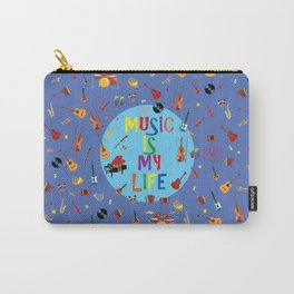 Music is my life (Blue) Carry-All Pouch