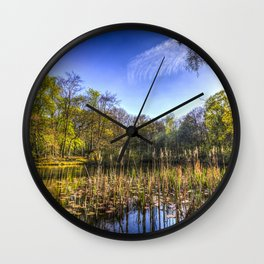 The Bulrush Pond Wall Clock