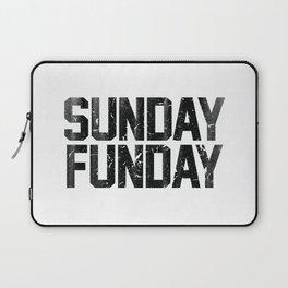 Sunday Funday Dirty Vintage Varsity Typography Print Laptop Sleeve