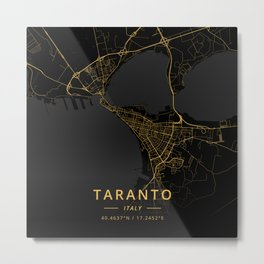 Taranto, Italy - Gold Metal Print