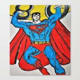 Superman (80th anniversary) Canvas Print