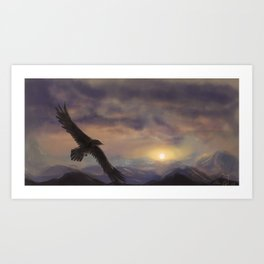 Chase the Morning Art Print