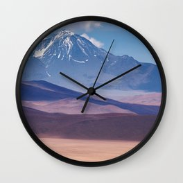 Pastel Mountains Wall Clock