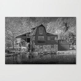The Peterson Mill in Black & White at Saugatuck Michigan Canvas Print