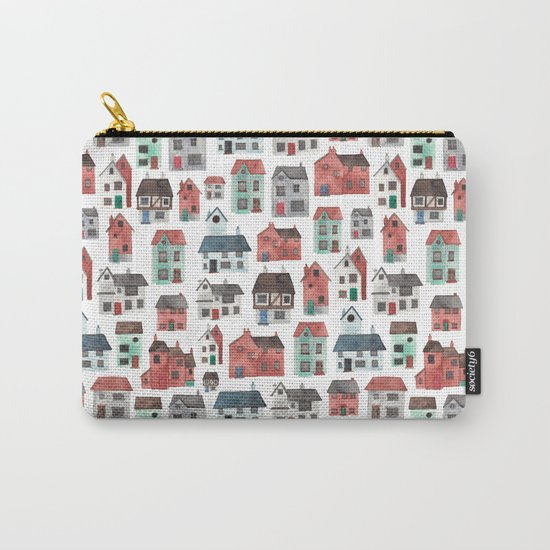 Watercolour Houses Carry-All Pouch