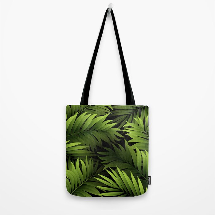 Tropical Frond Pattern Tote Bag