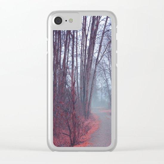 Autumn Walk Through the Park Clear iPhone Case
