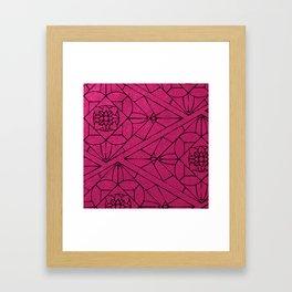 fashion tile Framed Art Print