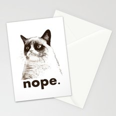 GRUMPY CAT - Nope (version 2) Stationery Cards