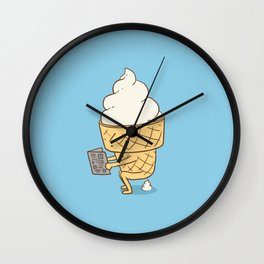 Everyone Poops (Blue) Wall Clock