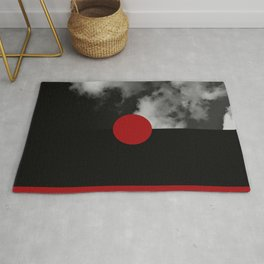 Night Skies Red Rug