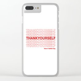 THANKYOURSELF Clear iPhone Case
