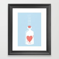 Let the LOVE Out Framed Art Print