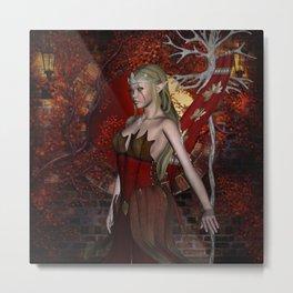 Beautiful fairy  in the night Metal Print