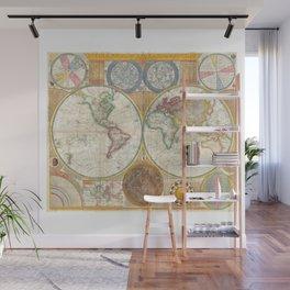1794 Vintage World Map Samuel Dunn Wall Mural