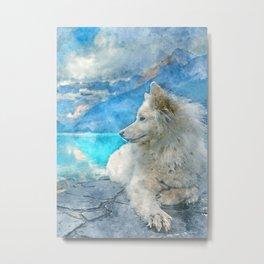 white wolf art Metal Print