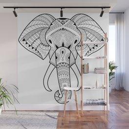 Serious Elephant Wall Mural