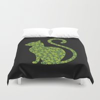 gem Duvet Covers featuring Gem Cat by Alisa Galitsyna